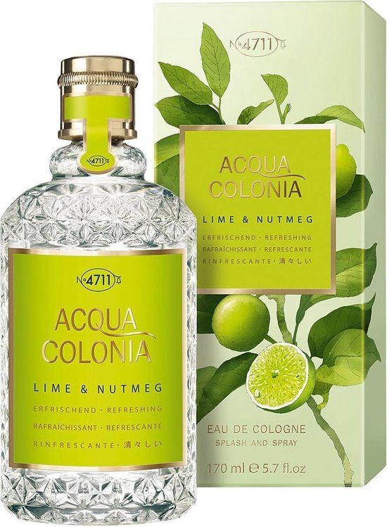 MULTIBUNDEL 2 stuks 4711 Acqua Colonia Lime & Nutmeg Eau De Cologne Spray 50ml